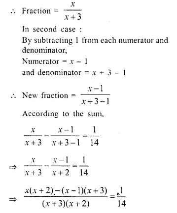 Selina Concise Mathematics Class 10 ICSE Solutions Chapter 6 Solving Problems Ex 6E Q13.1