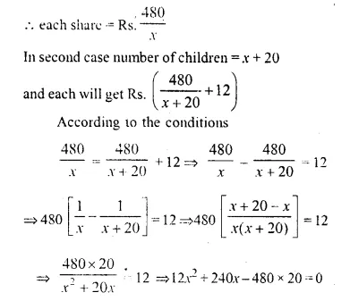 Selina Concise Mathematics Class 10 ICSE Solutions Chapter 6 Solving Problems Ex 6E Q16.1