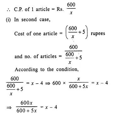 Selina Concise Mathematics Class 10 ICSE Solutions Chapter 6 Solving Problems Ex 6E Q2.1