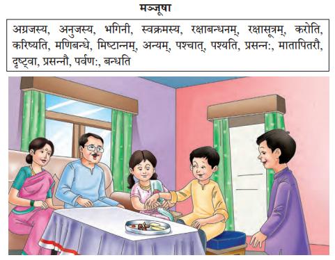 Abhyasvan Bhav Sanskrit Class 10 Solutions Chapter 4 चित्रवर्णनम् Q1