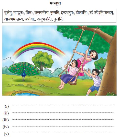 Abhyasvan Bhav Sanskrit Class 10 Solutions Chapter 4 चित्रवर्णनम् Q6