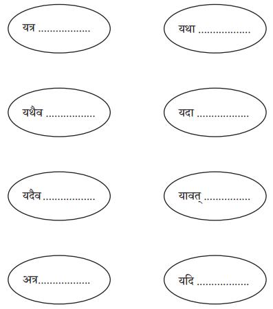 Abhyasvan Bhav Sanskrit Class 10 Solutions Chapter 9 अव्ययानि Q3