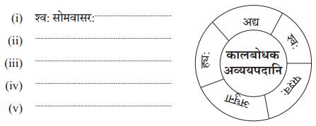 Abhyasvan Bhav Sanskrit Class 10 Solutions Chapter 9 अव्ययानि Q6