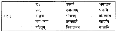 Class 10 Sanskrit Grammar Book Solutions अव्ययाः Q10