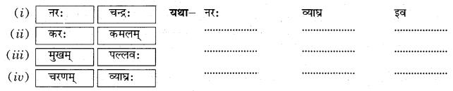 Class 10 Sanskrit Grammar Book Solutions अव्ययाः Q24