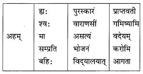 Class 10 Sanskrit Grammar Book Solutions अव्ययाः Q3.1