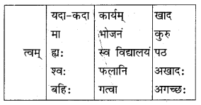 Class 10 Sanskrit Grammar Book Solutions अव्ययाः Q5
