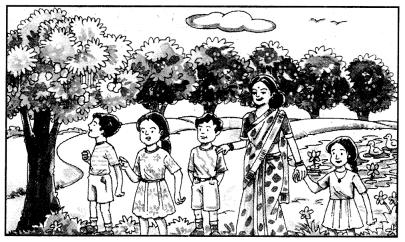 Class 10 Sanskrit Grammar Book Solutions चित्रवर्णनम् अथवा अनुच्छेदलेखनम् 6