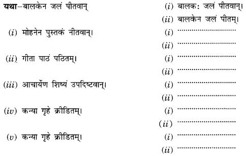Class 10 Sanskrit Grammar Book Solutions प्रत्ययाः III Q5