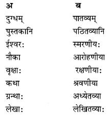Class 10 Sanskrit Grammar Book Solutions प्रत्ययाः IV Q3.1