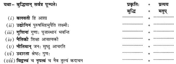 Class 10 Sanskrit Grammar Book Solutions प्रत्ययाः Q12