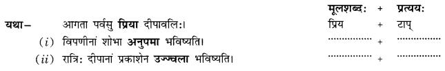 Class 10 Sanskrit Grammar Book Solutions प्रत्ययाः Q18