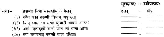 Class 10 Sanskrit Grammar Book Solutions प्रत्ययाः Q20