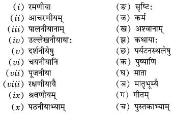 Class 10 Sanskrit Grammar Book Solutions प्रत्ययाः Q6.1