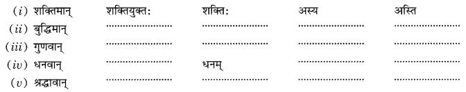Class 10 Sanskrit Grammar Book Solutions प्रत्ययाः Q8
