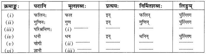 Class 10 Sanskrit Grammar Book Solutions प्रत्ययाः Q9