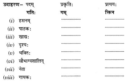 Class 10 Sanskrit Grammar Book Solutions प्रत्ययाः V Q1