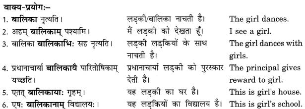 Class 6 Sanskrit Grammar Book Solutions संज्ञा शब्द-रूपाणि तथा वाक्यप्रयोगः 9
