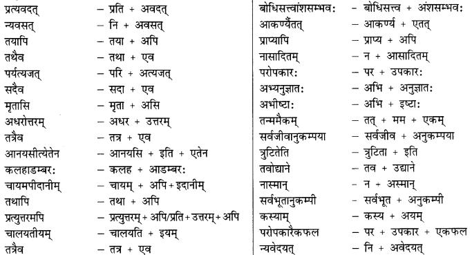Class 9 Sanskrit Grammar Book Solutions सन्धिः 10
