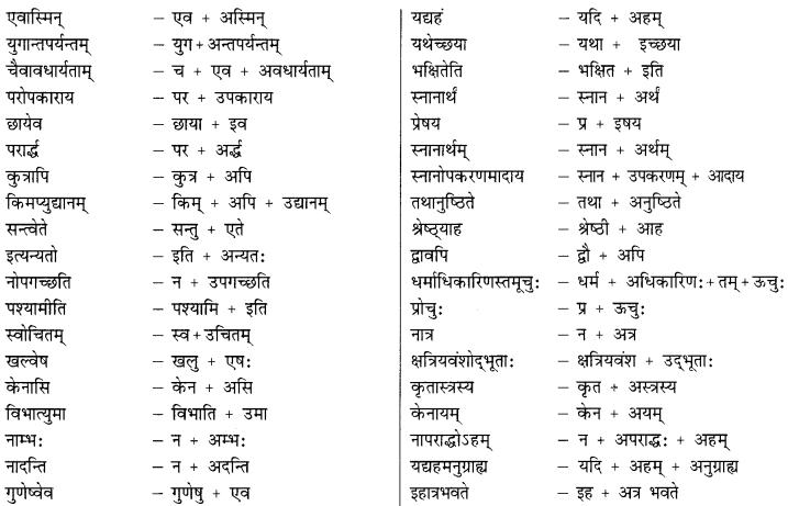 Class 9 Sanskrit Grammar Book Solutions सन्धिः 11