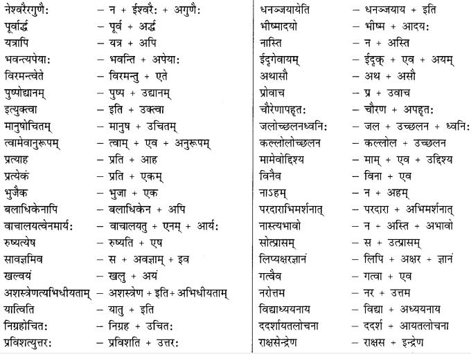 Class 9 Sanskrit Grammar Book Solutions सन्धिः 12
