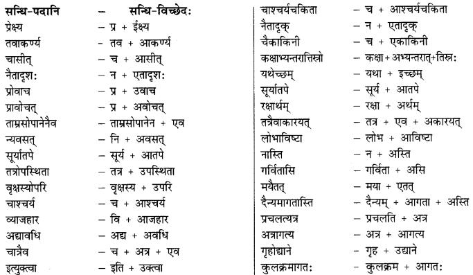 Class 9 Sanskrit Grammar Book Solutions सन्धिः 9