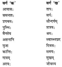 NCERT Solutions for Class 10 Sanskrit Shemushi Chapter 3 व्यायामः सर्वदा पथ्यः Additional Q5