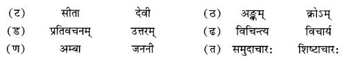 NCERT Solutions for Class 10 Sanskrit Shemushi Chapter 4 शिशुलालनम् Additional Q7.2
