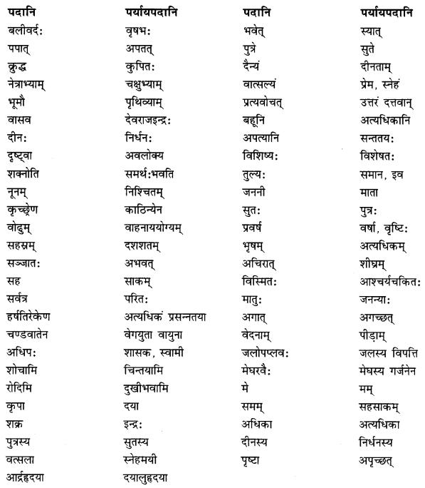 NCERT Solutions for Class 10 Sanskrit Shemushi Chapter 5 जननी तुल्यवत्सला Additional Q8.2