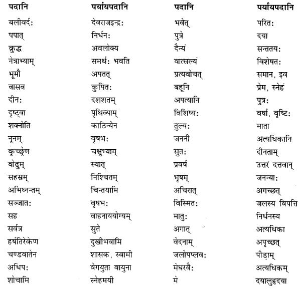 NCERT Solutions for Class 10 Sanskrit Shemushi Chapter 5 जननी तुल्यवत्सला Additional Q8