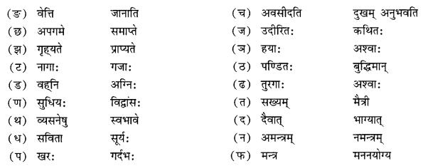 NCERT Solutions for Class 10 Sanskrit Shemushi Chapter 6 सुभाषितानि Additional Q5.2