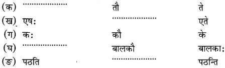 NCERT Solutions for Class 6 Sanskrit Chapter 1 शब्द परिचयः 1.17
