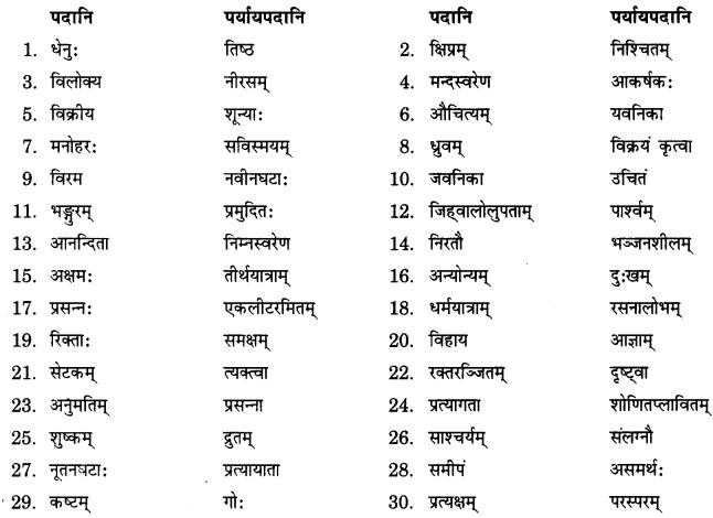 NCERT Solutions for Class 9 Sanskrit Shemushi Chapter 3 गोदोहनम् 1