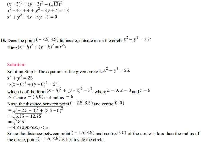 NCERT Solutions for Class 11 Maths Chapter 11 Conic Sections Ex 11.1 12