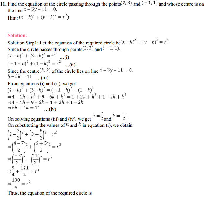 NCERT Solutions for Class 11 Maths Chapter 11 Conic Sections Ex 11.1 8