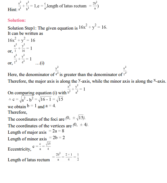 NCERT Solutions for Class 11 Maths Chapter 11 Conic Sections Ex 11.2 11