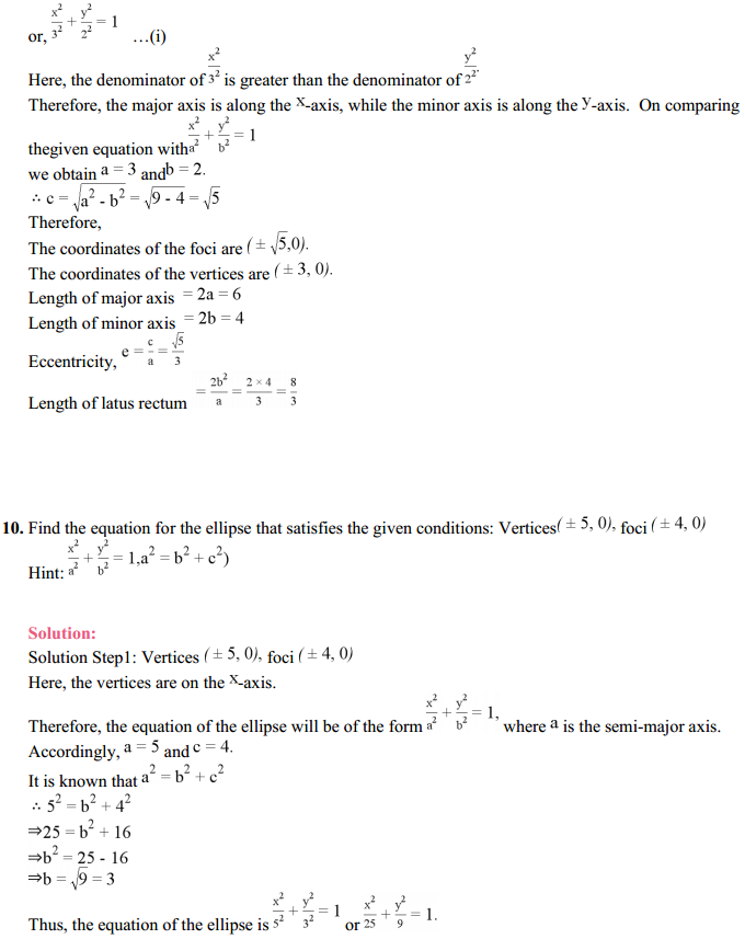 NCERT Solutions for Class 11 Maths Chapter 11 Conic Sections Ex 11.2 13