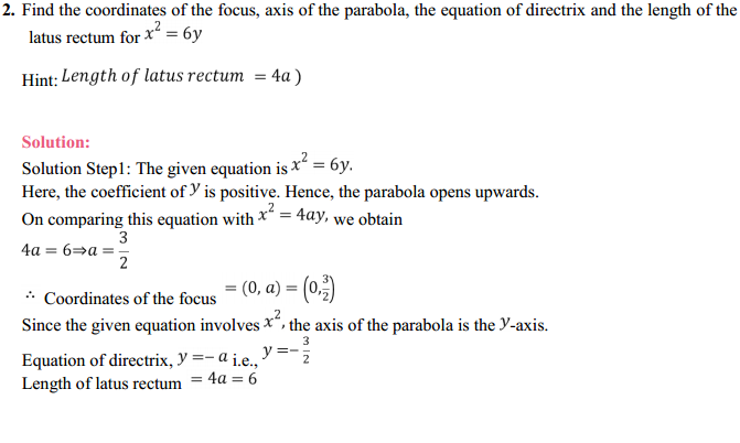 NCERT Solutions for Class 11 Maths Chapter 11 Conic Sections Ex 11.2 2