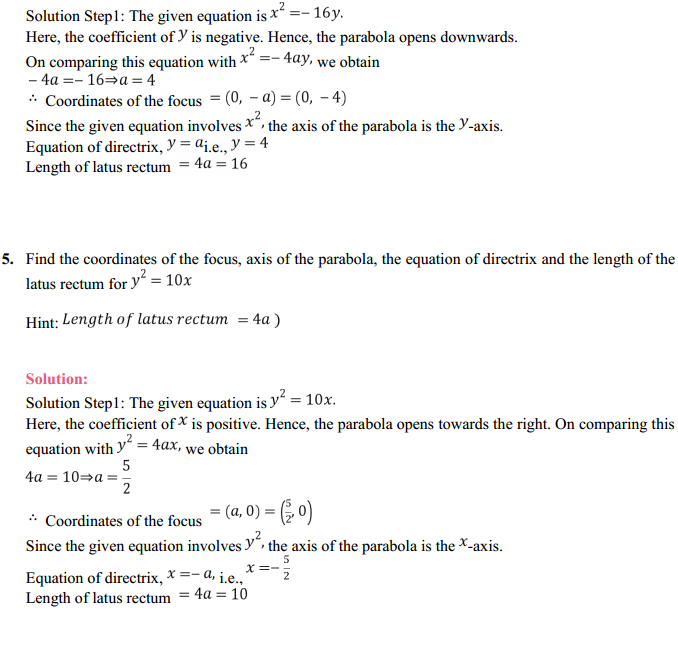 NCERT Solutions for Class 11 Maths Chapter 11 Conic Sections Ex 11.2 4