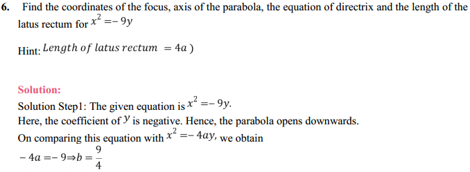 NCERT Solutions for Class 11 Maths Chapter 11 Conic Sections Ex 11.2 5