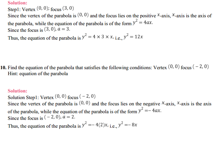 NCERT Solutions for Class 11 Maths Chapter 11 Conic Sections Ex 11.2 8