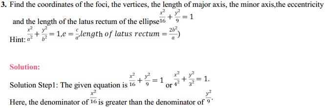 NCERT Solutions for Class 11 Maths Chapter 11 Conic Sections Ex 11.3 3