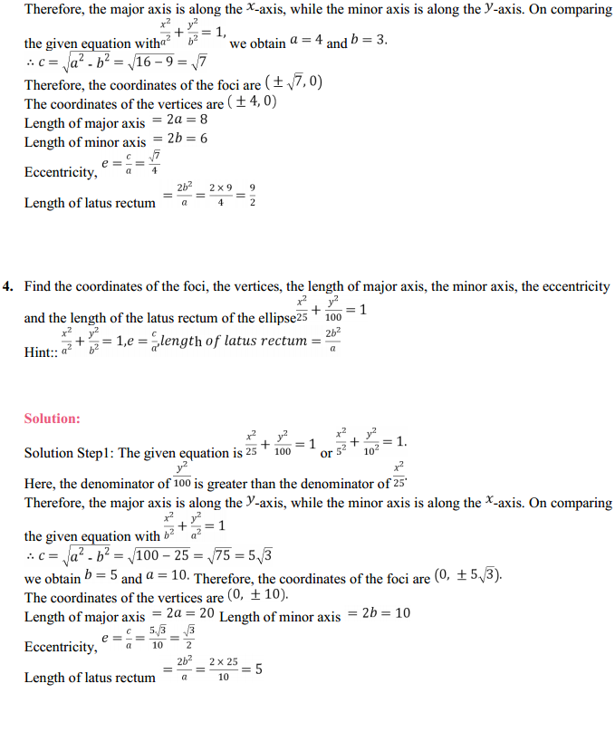 NCERT Solutions for Class 11 Maths Chapter 11 Conic Sections Ex 11.3 4