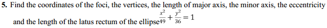 NCERT Solutions for Class 11 Maths Chapter 11 Conic Sections Ex 11.3 5