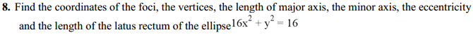 NCERT Solutions for Class 11 Maths Chapter 11 Conic Sections Ex 11.3 9