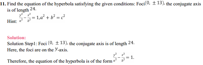 NCERT Solutions for Class 11 Maths Chapter 11 Conic Sections Ex 11.4 11