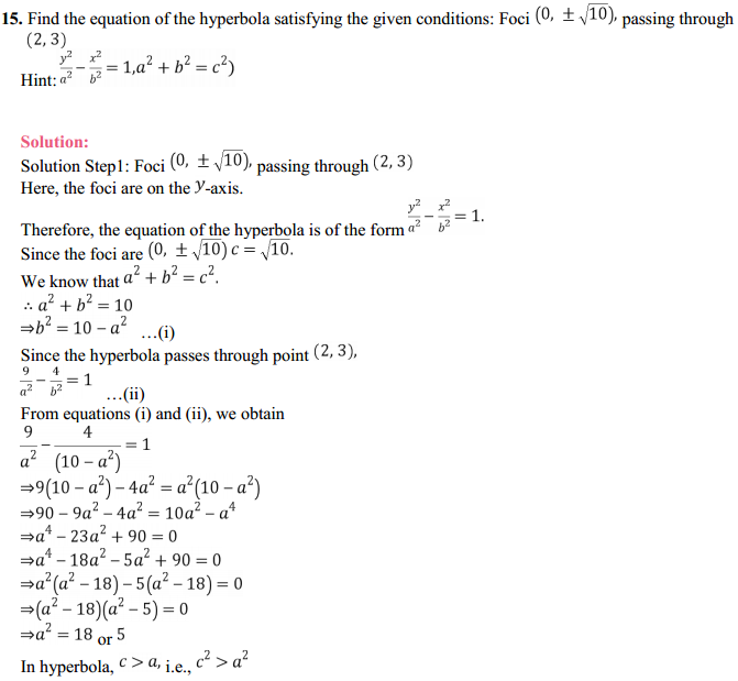 NCERT Solutions for Class 11 Maths Chapter 11 Conic Sections Ex 11.4 17