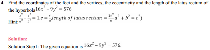 NCERT Solutions for Class 11 Maths Chapter 11 Conic Sections Ex 11.4 3