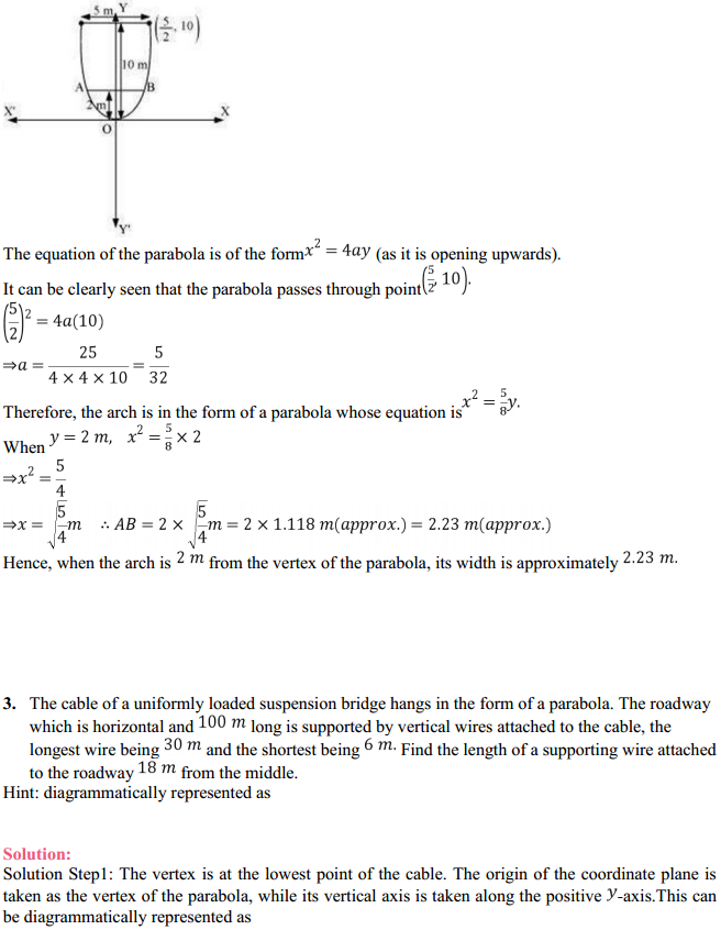 NCERT Solutions for Class 11 Maths Chapter 11 Conic Sections Miscellaneous Exercise 2