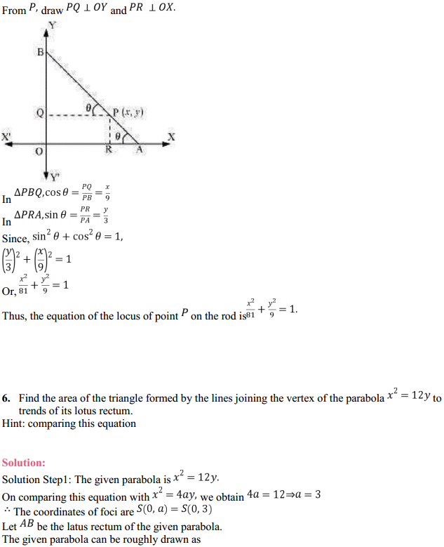 NCERT Solutions for Class 11 Maths Chapter 11 Conic Sections Miscellaneous Exercise 6